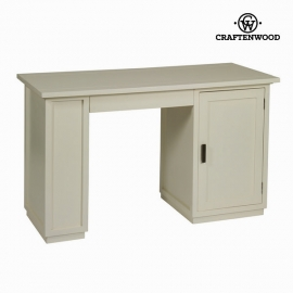 Bureau Bois mindi Blanc (130 x 78 x 55 cm) - Collection Serious Line by Craftenwood