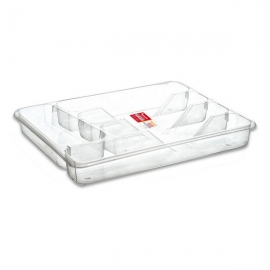 Range-couverts Privilege Transparent (33,5 x 29 x 5 cm)