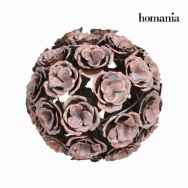 Boule métal fleur couleur cuivre - Collection Art & Metal by Homania