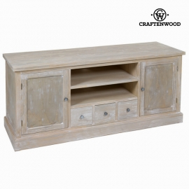 Banc TV Bois de pin Mdf Bois de paulownia (150 x 50 x 66 cm) - Natural Collection by Craftenwood