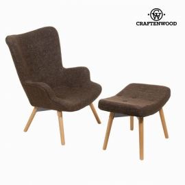 Chaise avec repose-pieds by Craftenwood