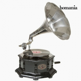 gramophone Octogonal Noir Argent - Collection Old Style by Homania