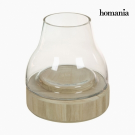 Bougeoir Verre Bois - Collection Pure Crystal Deco by Homania